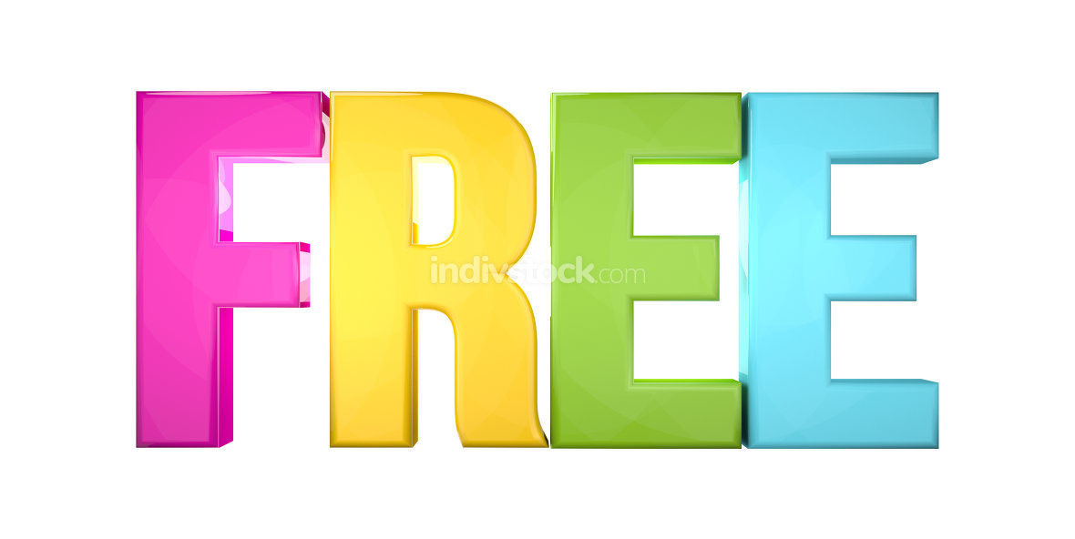 free colorful 3d render isolated white
