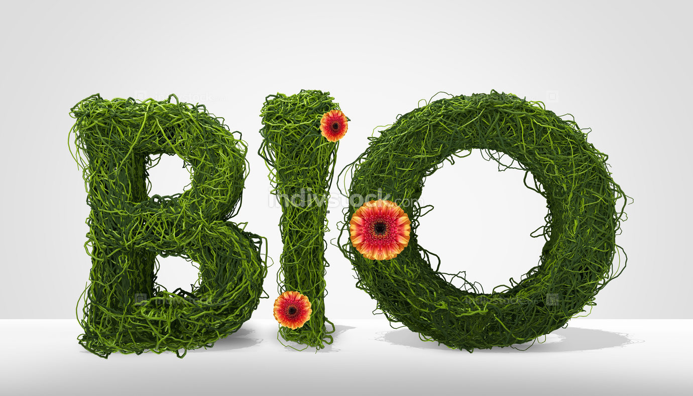 free download: bio 3d render letters nature symbol
