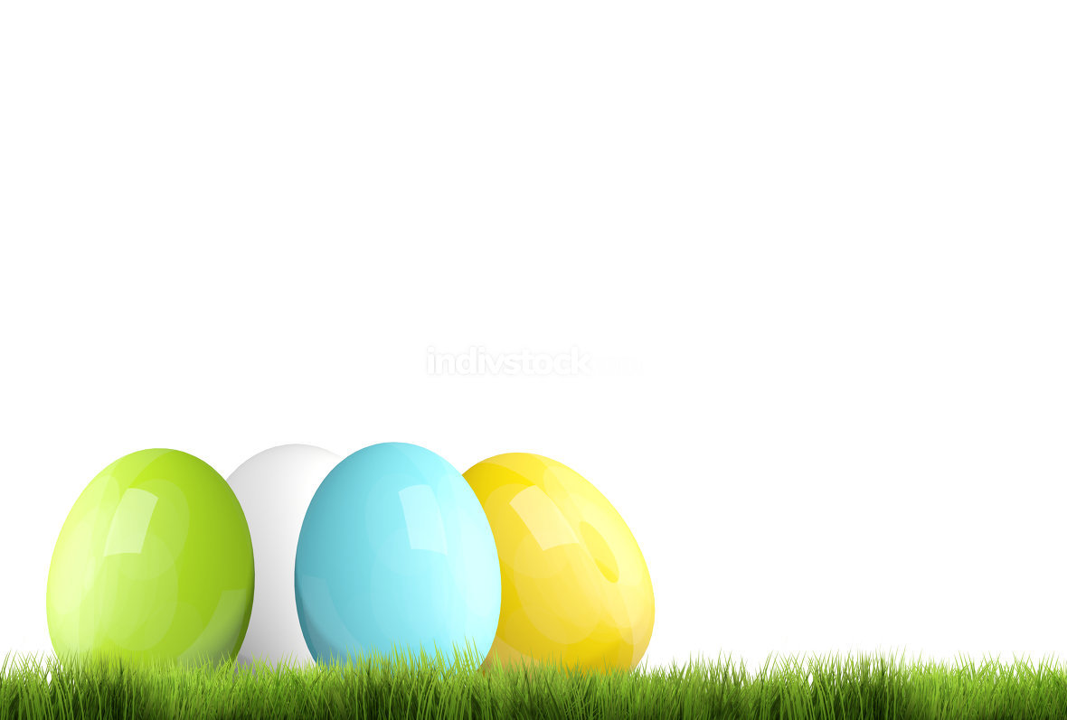 free download: easter time easter eggs 3D render