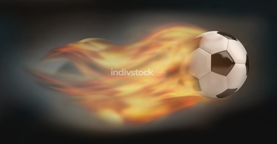 free download: football soccer balls. burning fire flames football