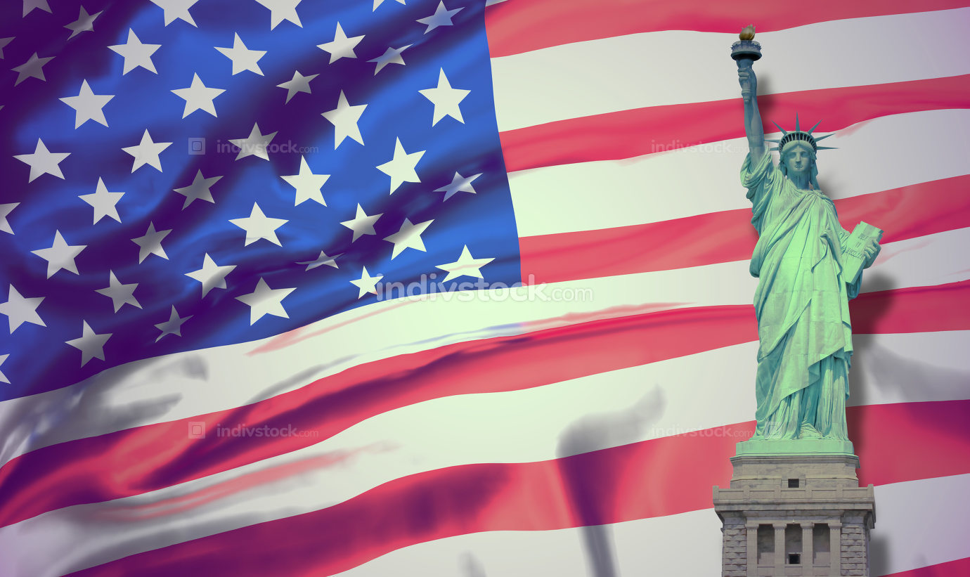 free download: united states of america. flag of the united states. 3d renderin