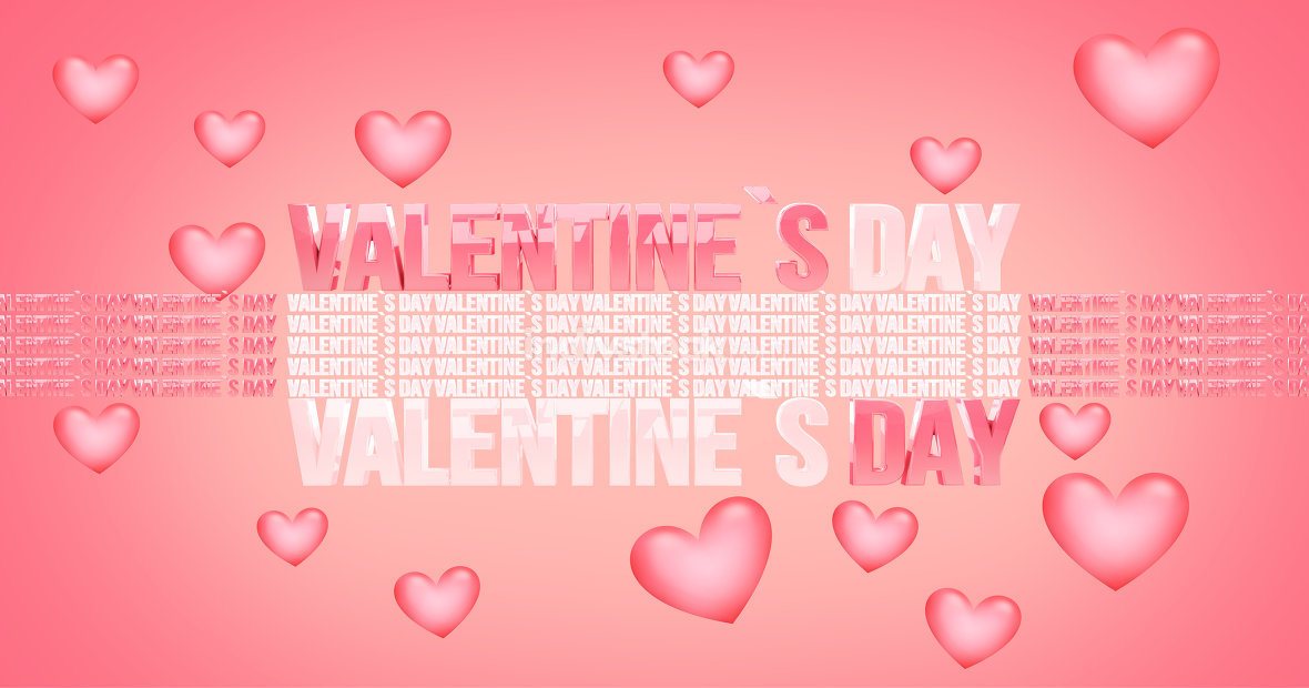 free download: valentines day modern abstract 3d render background