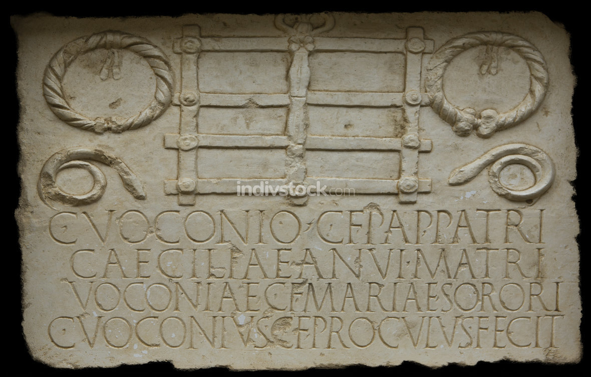 Funerary plaque belong to the Voconios Family