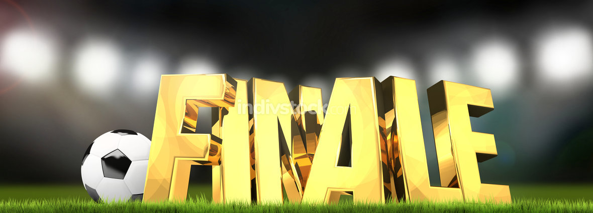 German language for final 3d render soccer football