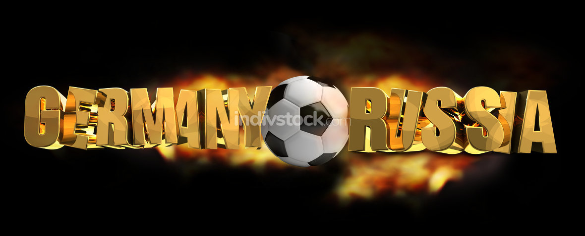 germany vs russia soccer football 3d render
