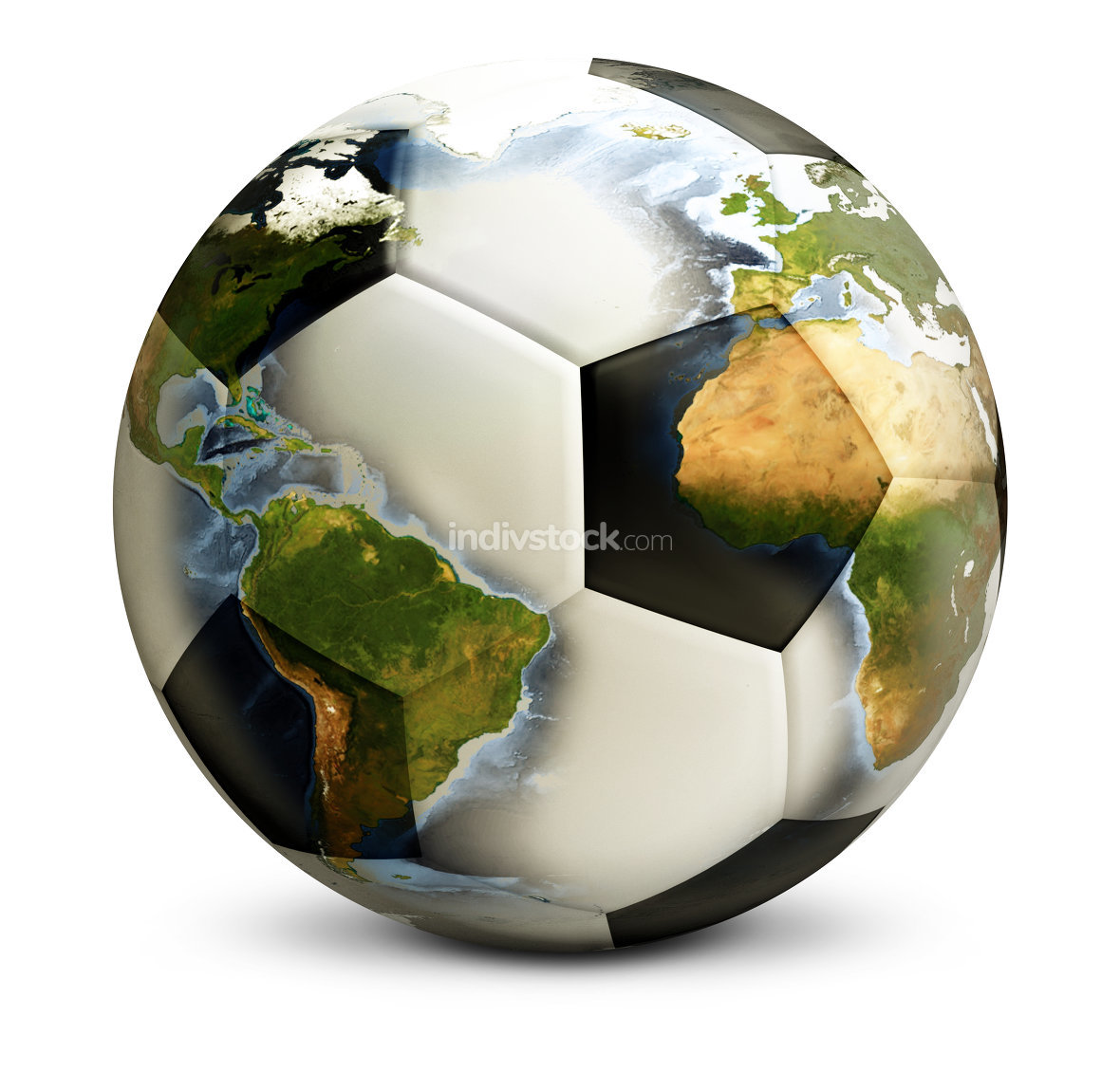globe football soccer ball. Elements of this image furnished by NASA.