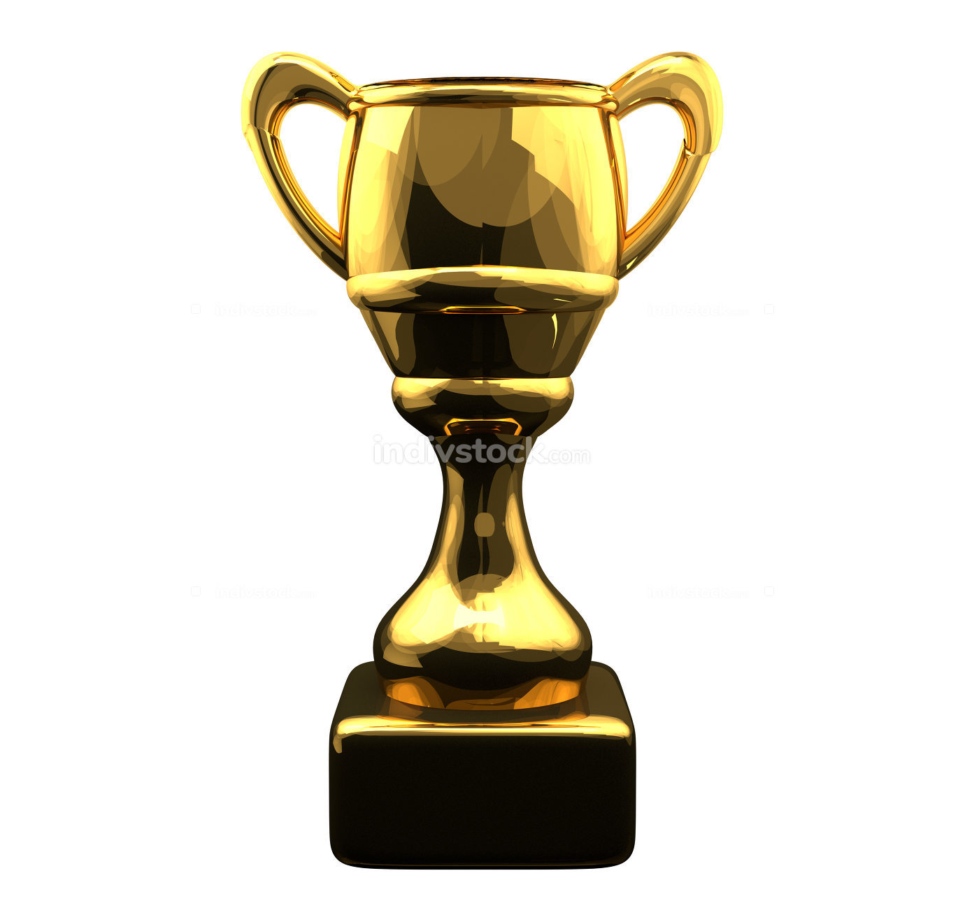 golden cup 3d rendering