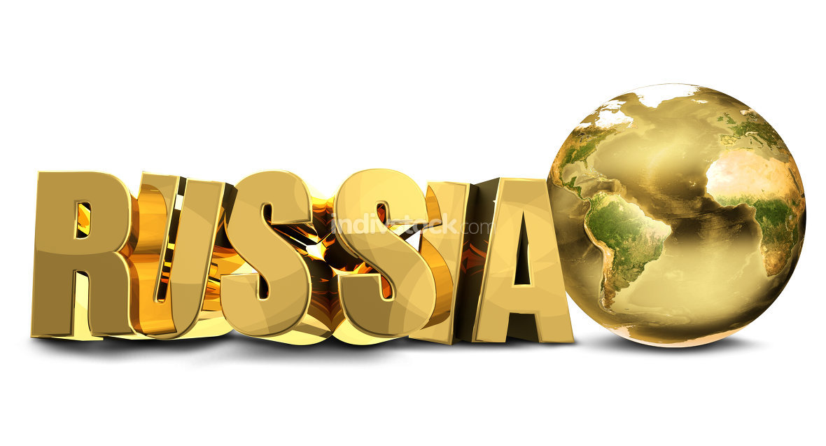 golden Russia world planet earth. Elements of this image furnish