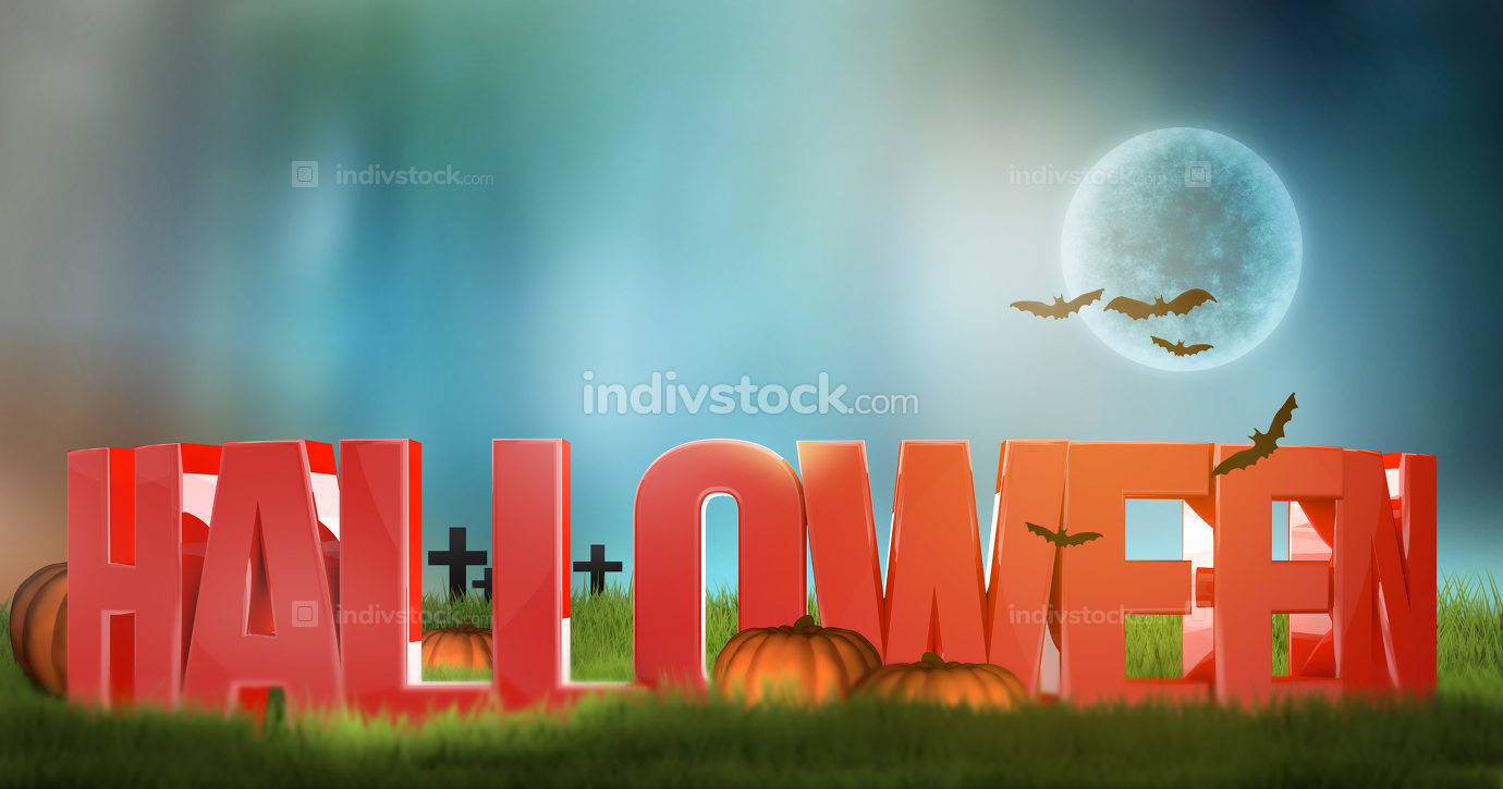halloween 3d render background
