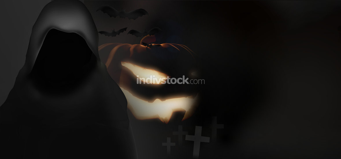 halloween background pumpkin horror