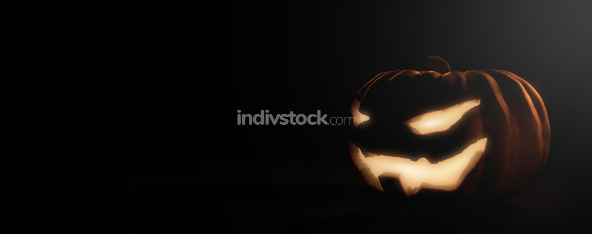 halloween pumpkin 3d render