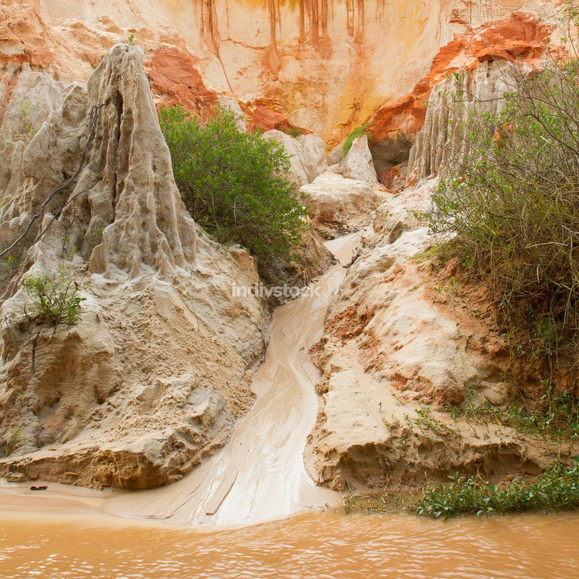 Ham Tien canyon in Vietnam