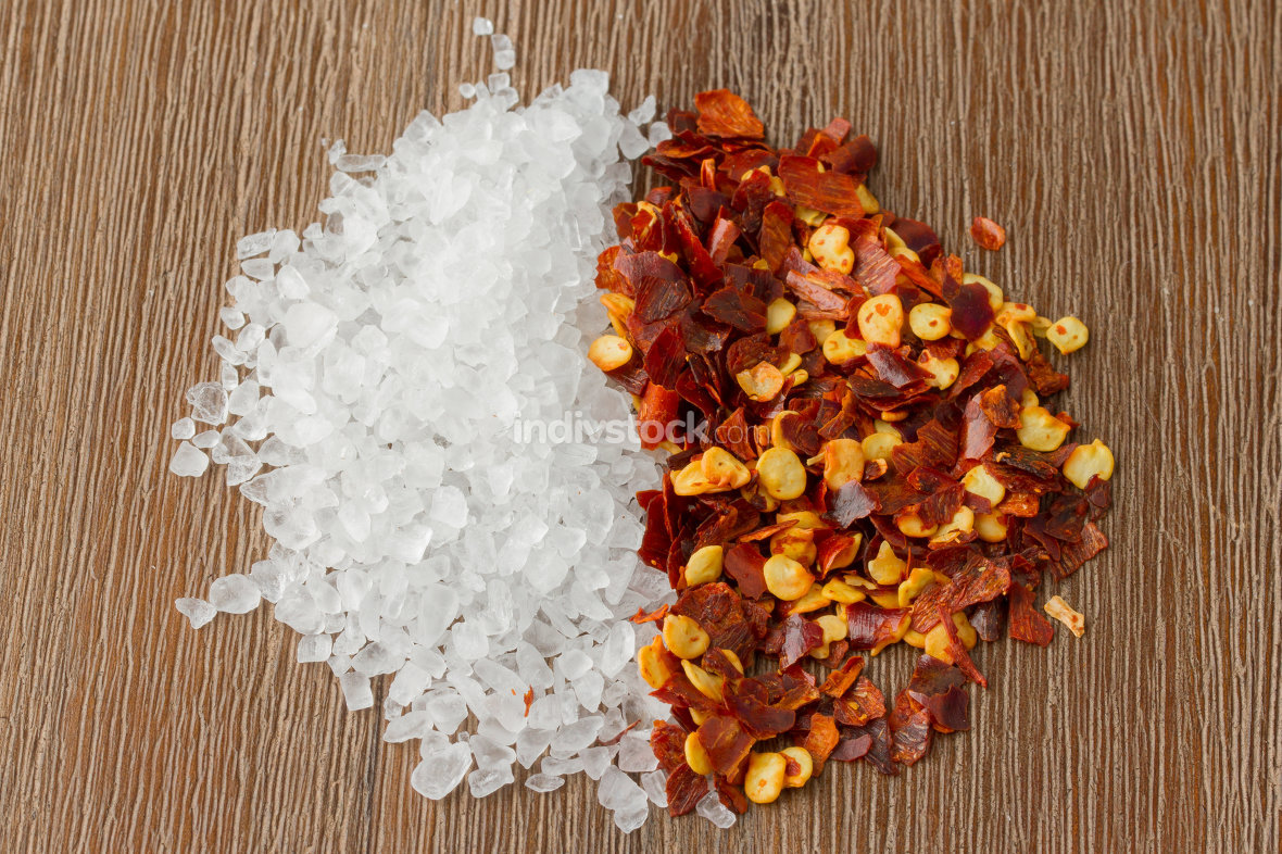 Heap of salt and chili