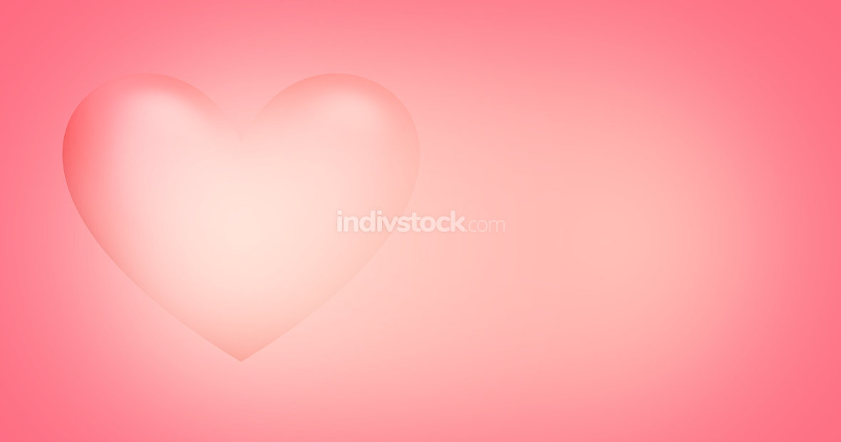 heart 3d render background