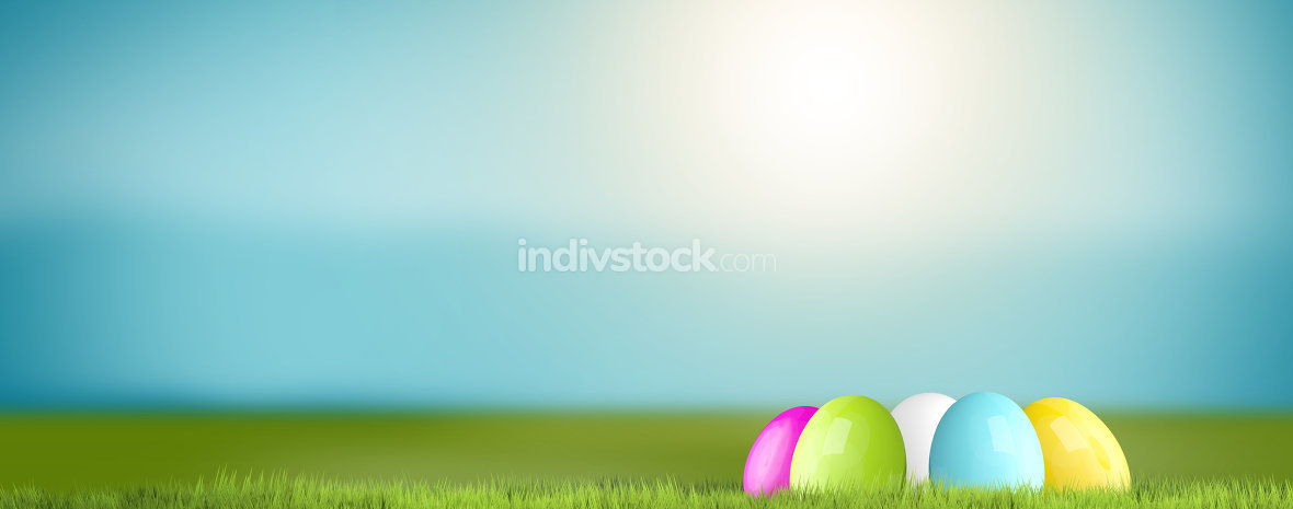 hidden easter eggs background 3D Render
