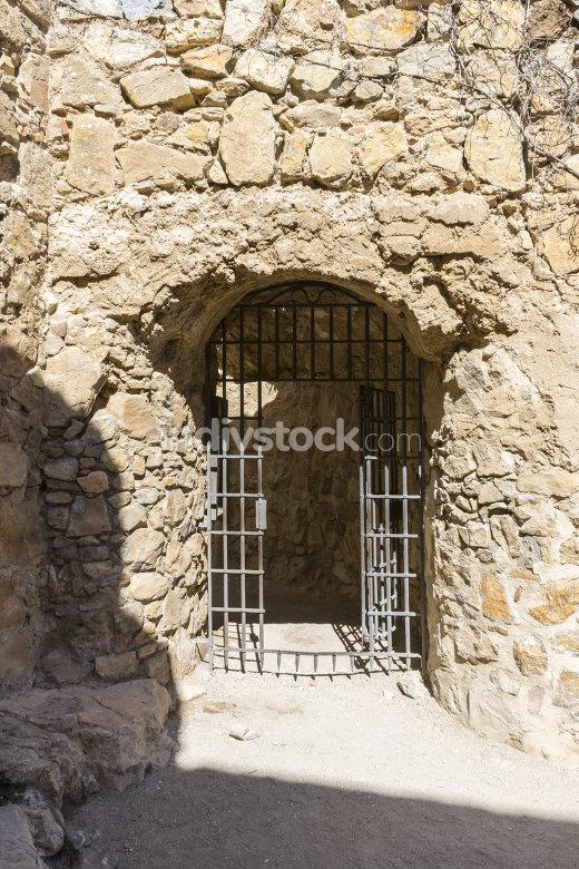 Iron door, Town of Consuegra in the province of Toledo, Spain