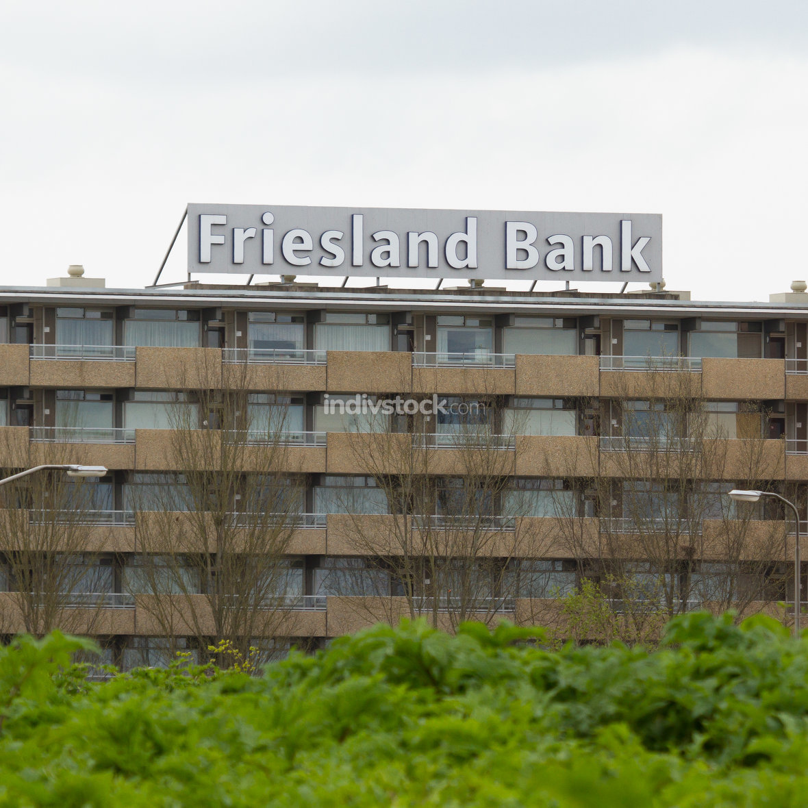 Large billboard of the Friesland Bank Mai 7, 2012 Leeuwarden,Friesland,Holland