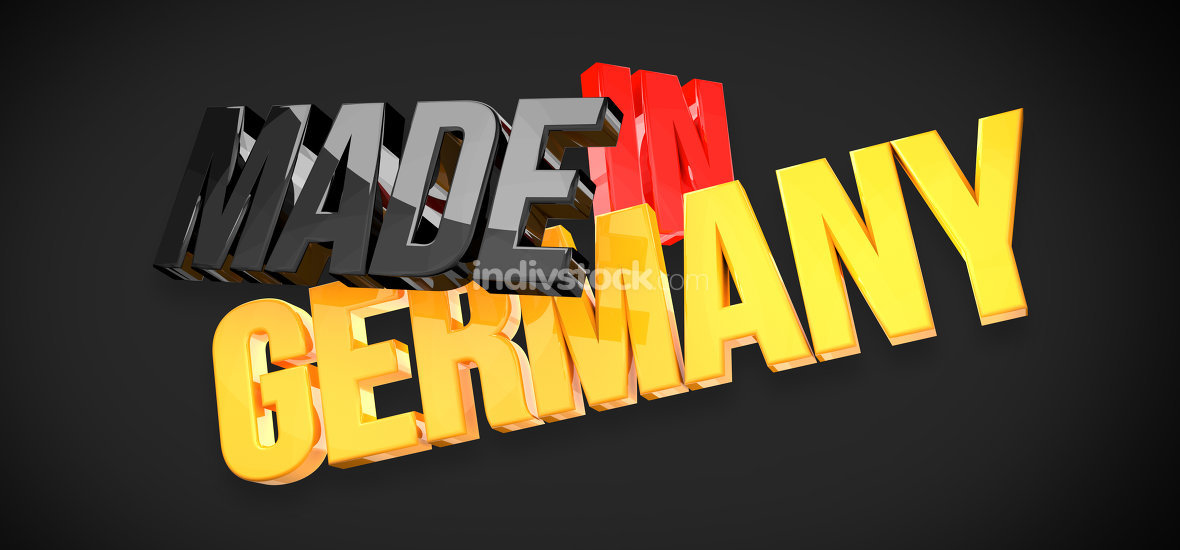made in germany flag colors 3d render