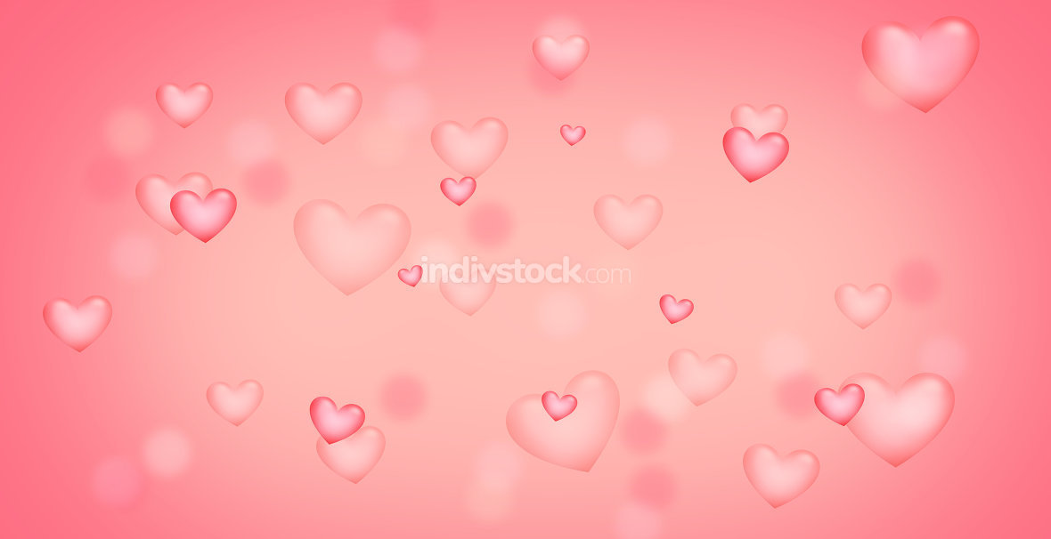 pink red hearts background. Elements of this image furnished by NASA.