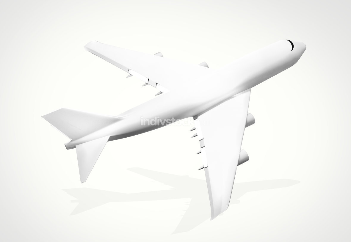 plane white 3d render airplane aircraft