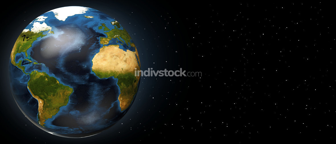 planet earth 3d render . Elements of this image furnished by NAS