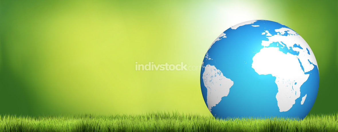 planet earth nature green blue 3d render design