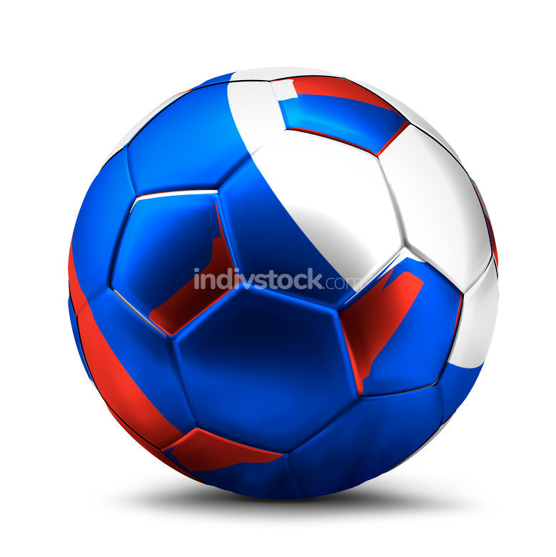 russian ball. soccer football 3d rendering of an isolated ball