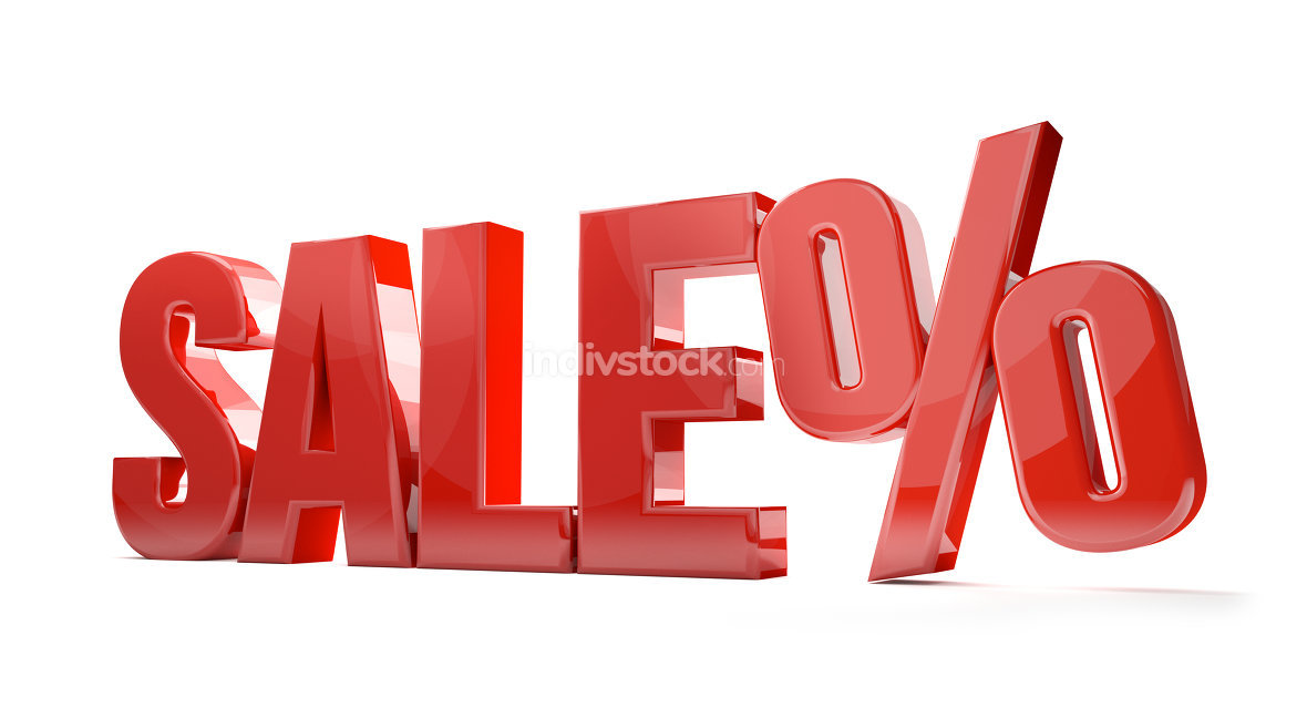 sale percentage shopping 3d render sale symbol