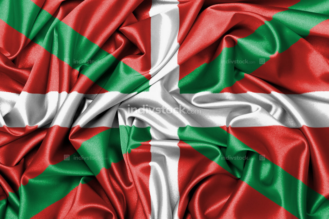 Satin flag - flag of Basque Country