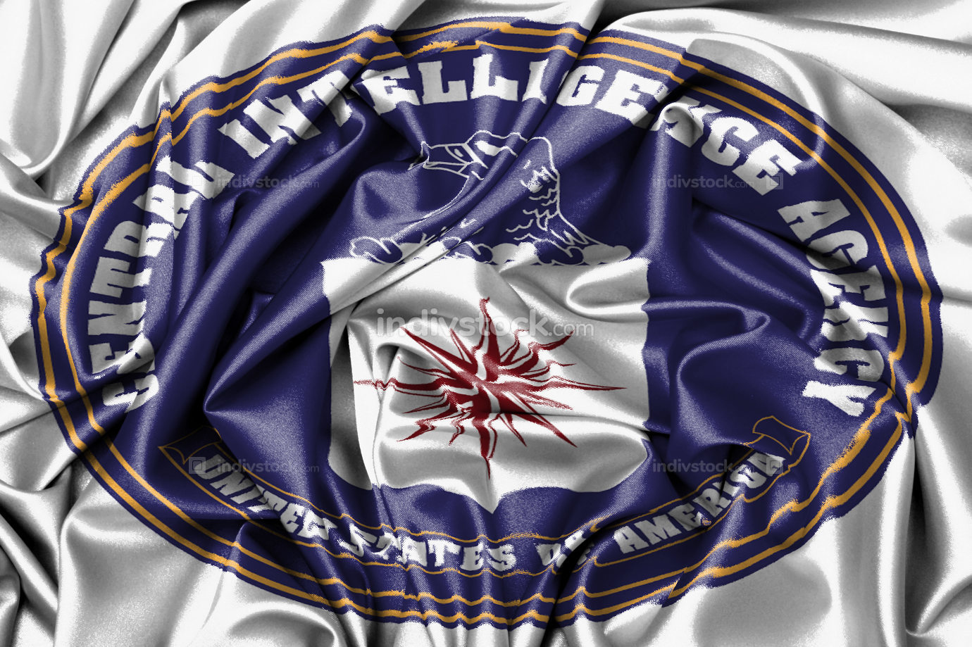Satin flag - flag of the CIA