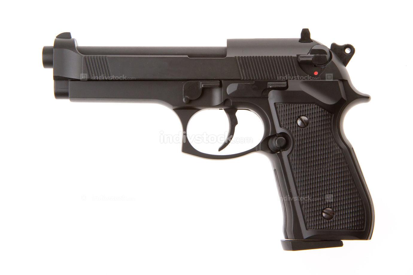Semi-automatic gun isolated
