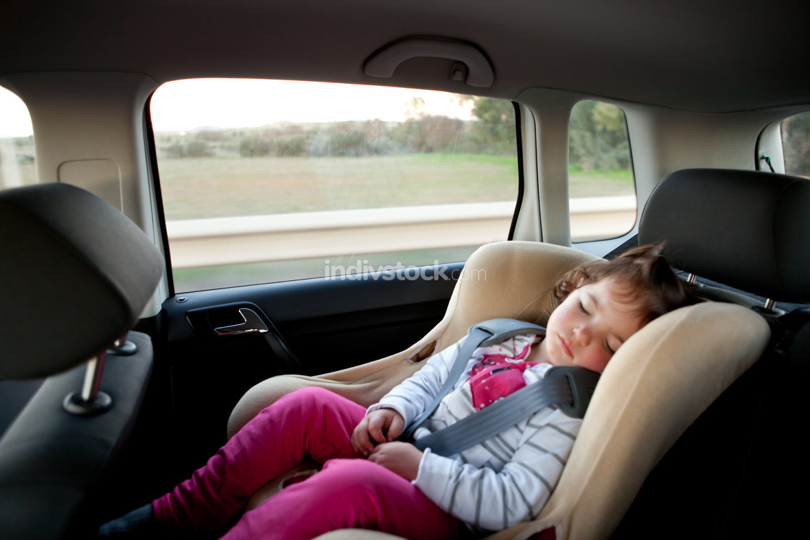 Sleeping in child car seat