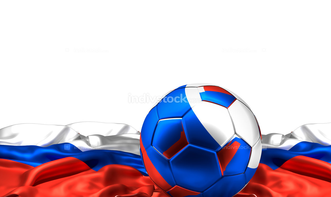 soccer football russia 3d rendering