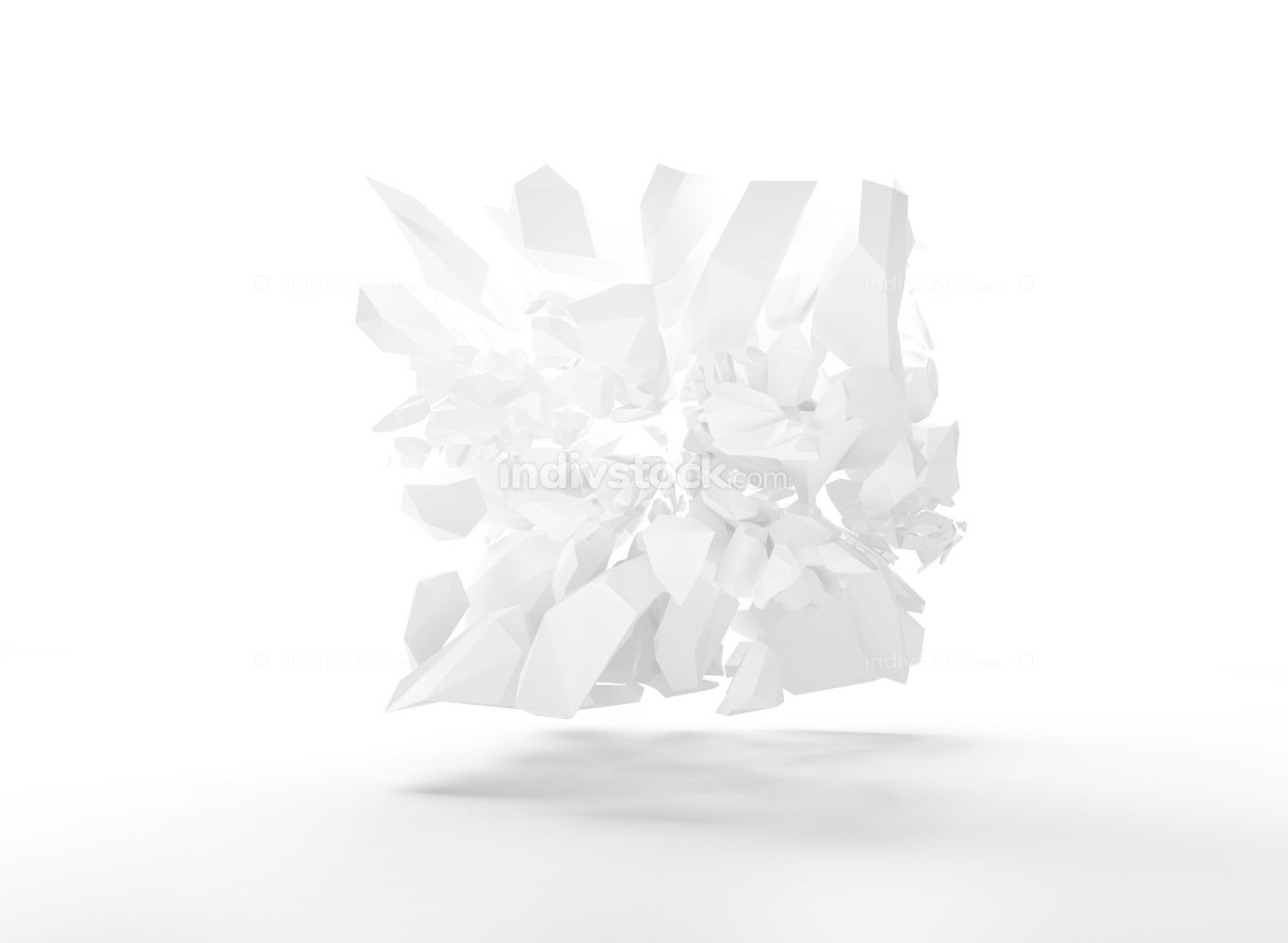 solid structure bursting 3d render