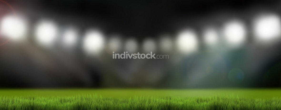 sports stadium lights 3d render background
