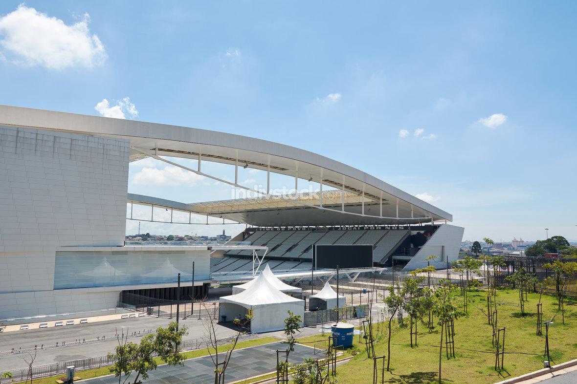 Stadium of Sport Club Corinthians Paulista in Sao Paulo, Brazil
