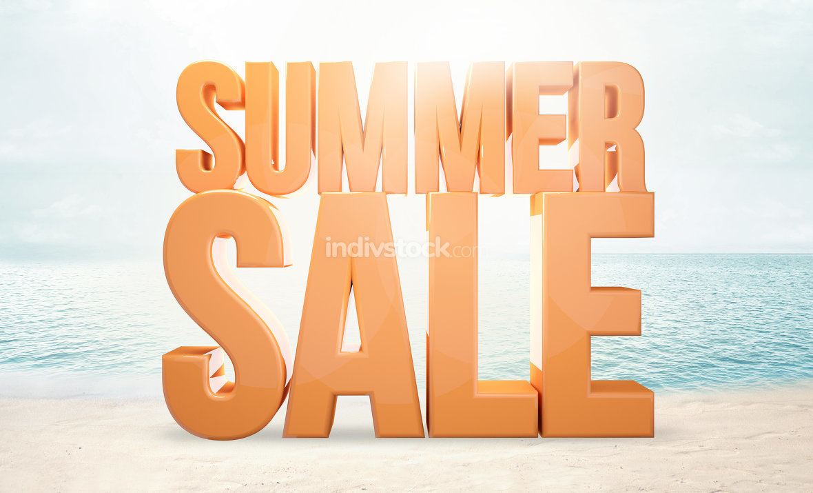 summer sale 3d render