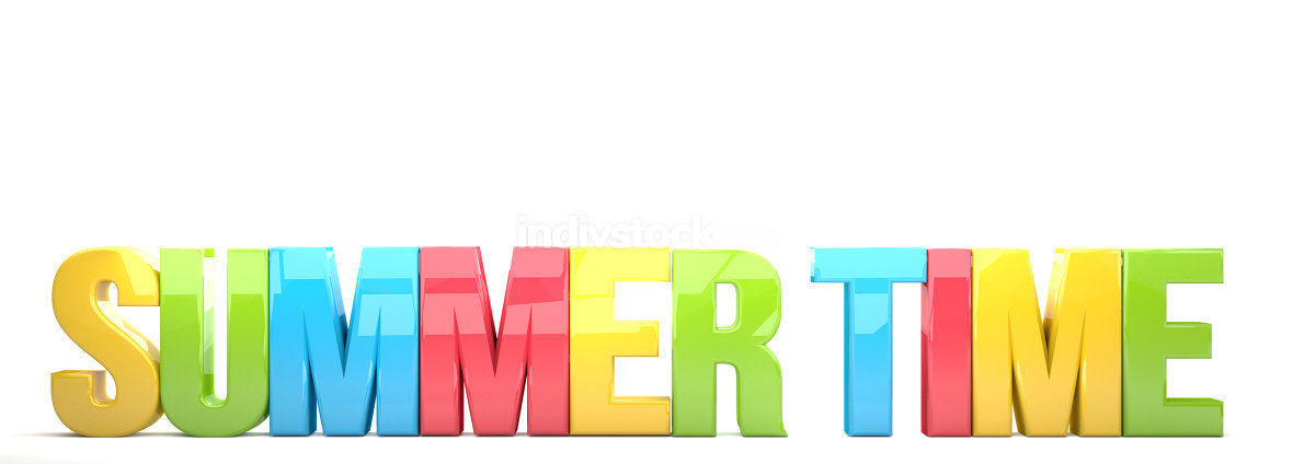 summer time colorful letters 3d render
