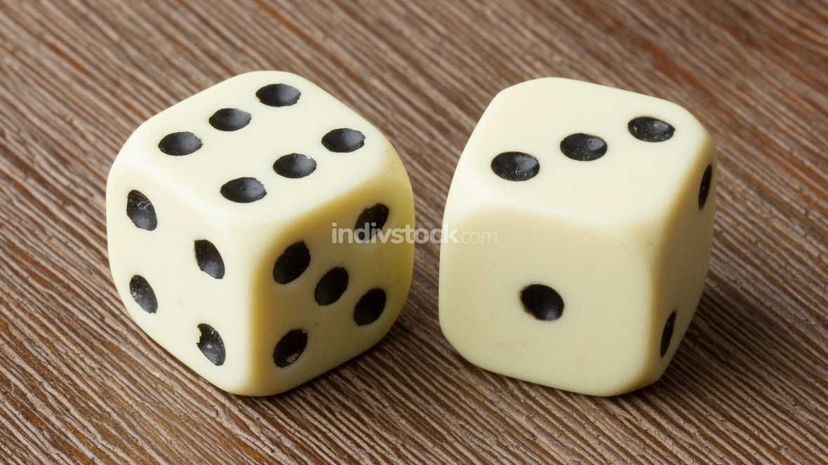 Two dice isolated