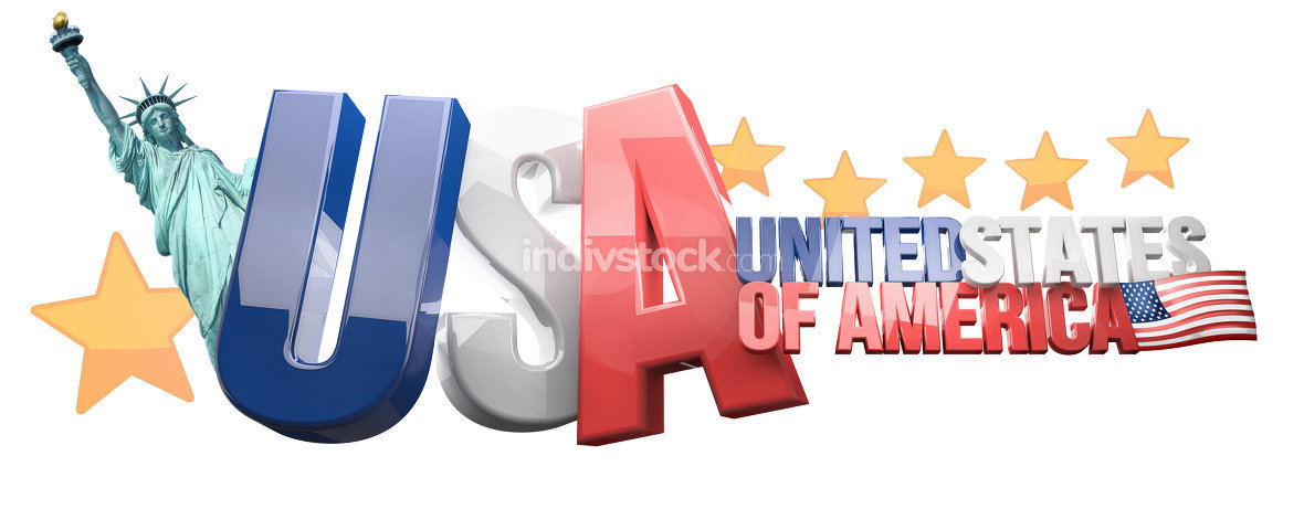 USA United States of America 3D Render