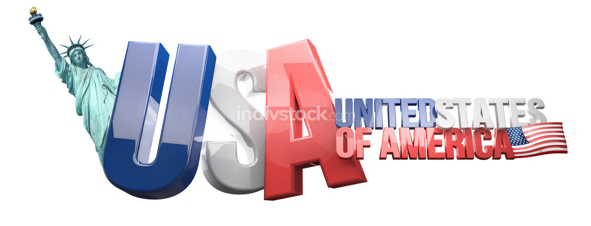 USA United States of America 3D Rendering