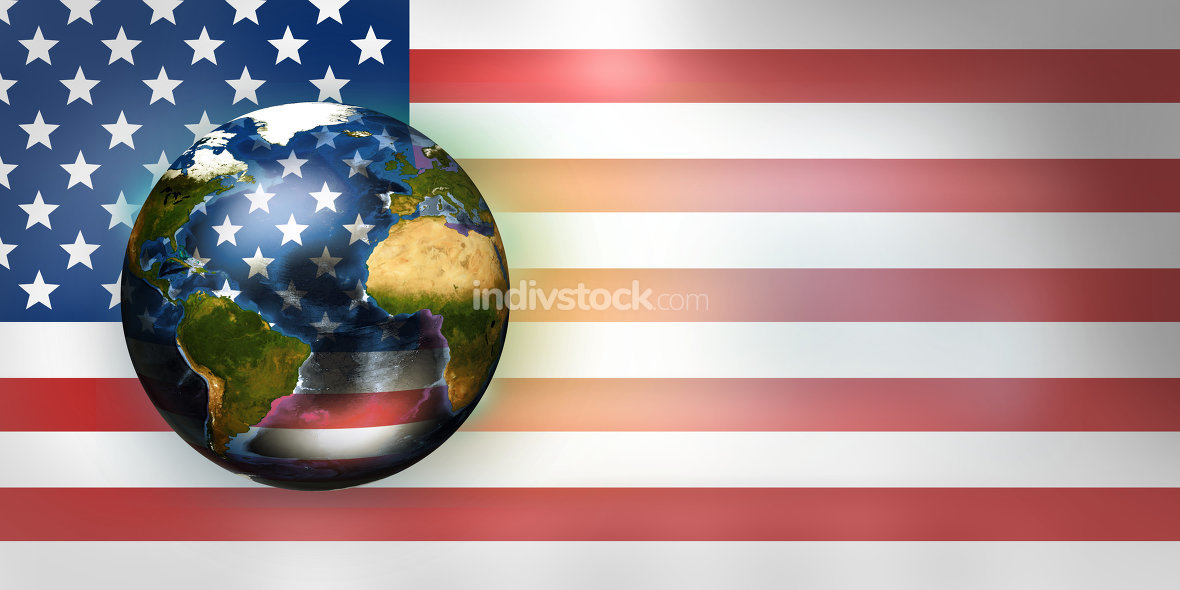USA world flag background 3d render. Elements of this image furn