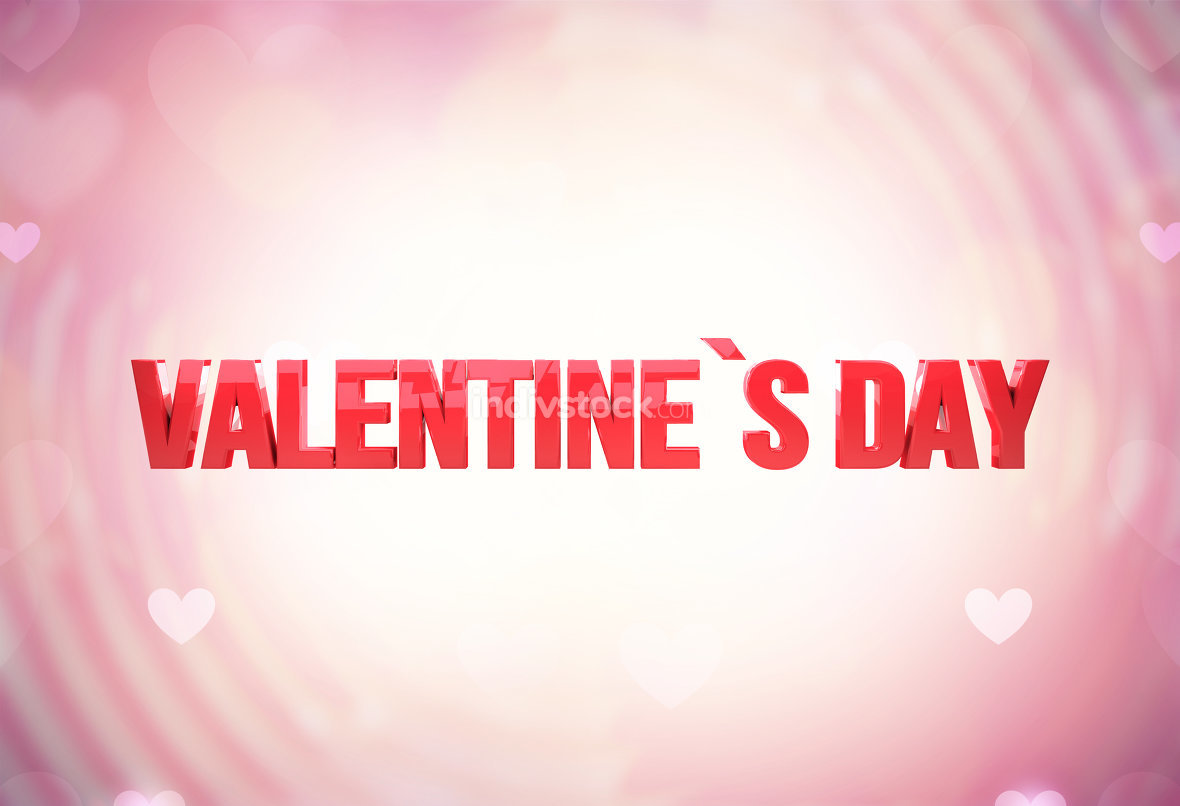 valentines day 3d render