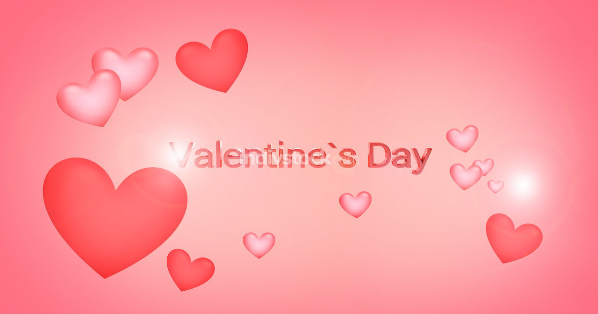 valentines daysoft hearts background 3d render