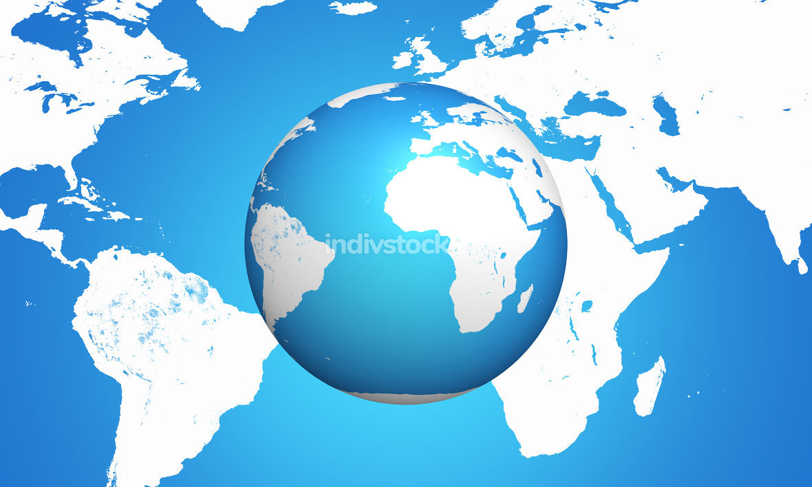 world map sphere 3d render. Elements of this image furnished by