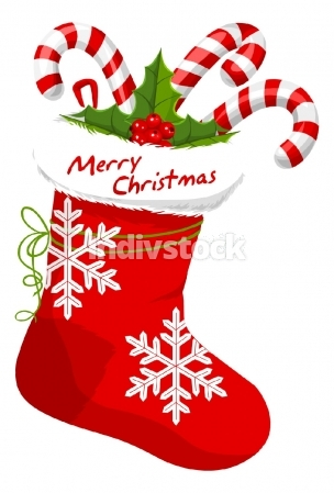 Christmas Stocking, illustration
