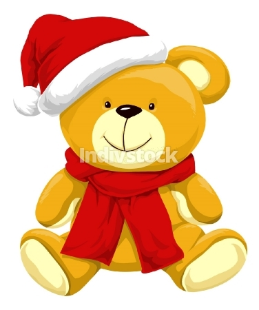 Christmas Teddy Bear, illustration