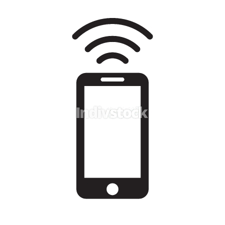 phone wifi icon vector