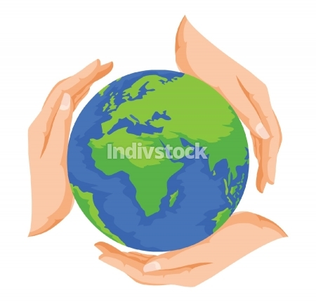 Vector of save earth.