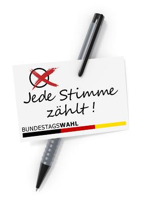 Bundestagswahl Jede Stimme zaehlt